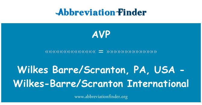 AVP: Wilkes Barre/Scranton, PA, USA - Wilkes-Barre/Scranton International