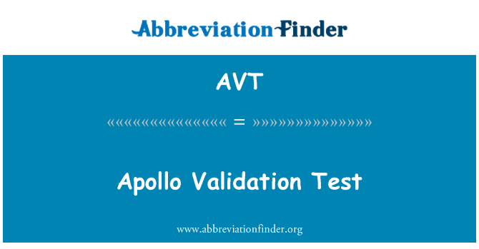AVT: Apollo Validation Test