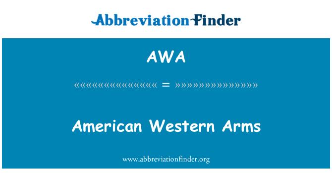 AWA: American Western Arms