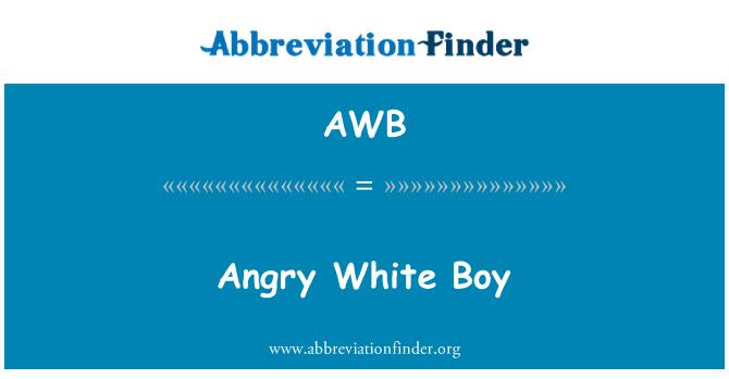 AWB: Angry White Boy