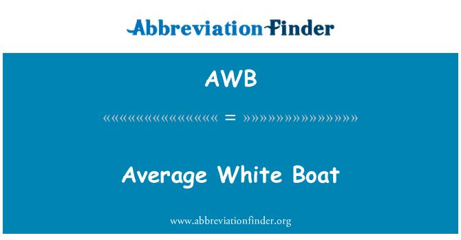 AWB: Average White Boat