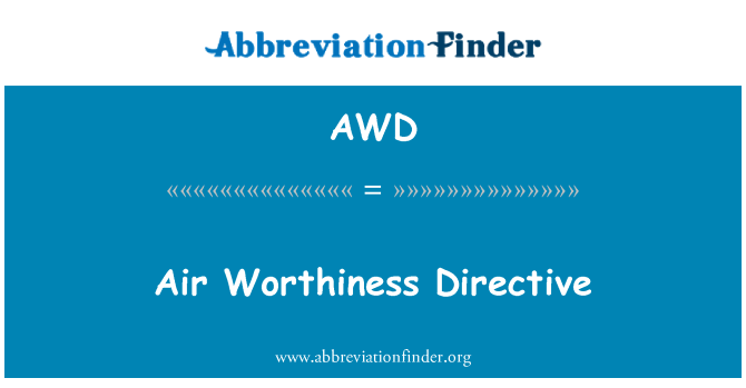 AWD: Air Worthiness Directive