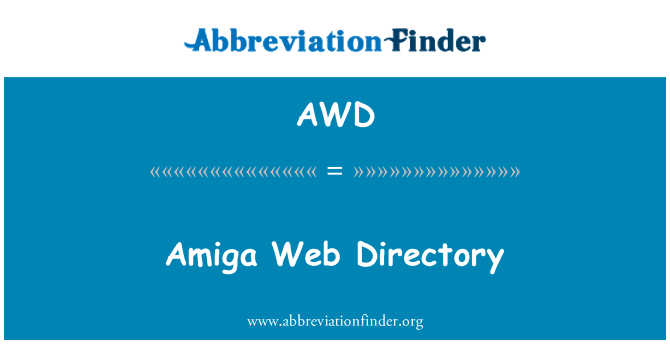 AWD: Amiga Web Directory