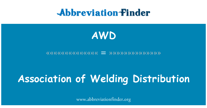 AWD: Association of Welding Distribution