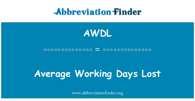 AWDL: Keskmise tööpäeva jooksul kaotanud