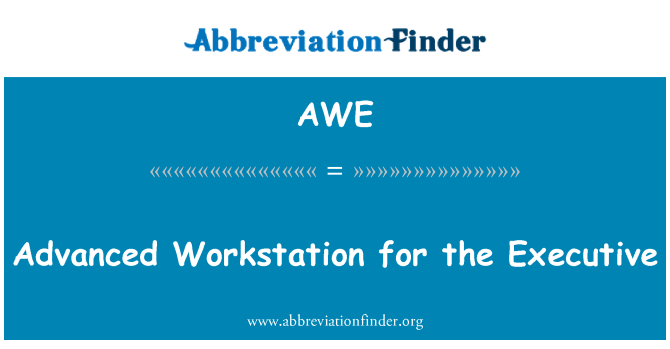 AWE: Advanced Workstation for the Executive