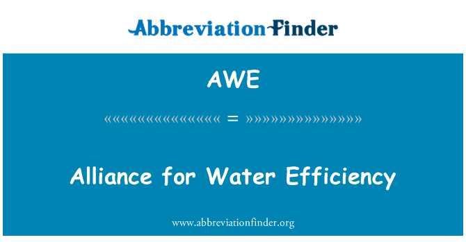 AWE: Alliance for Water Efficiency