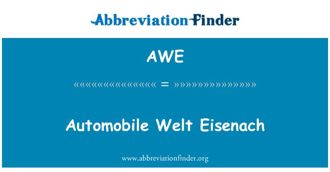 AWE: Automobile Welt Eisenach