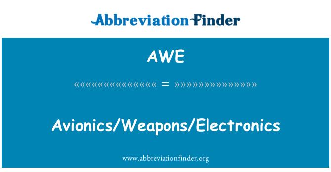 AWE: Avionics/Weapons/Electronics