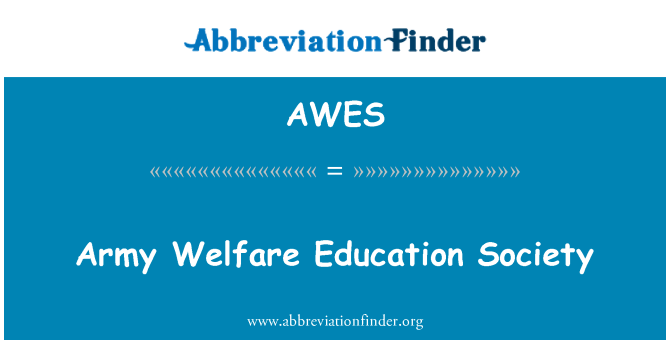 AWES: Army Welfare Education Society