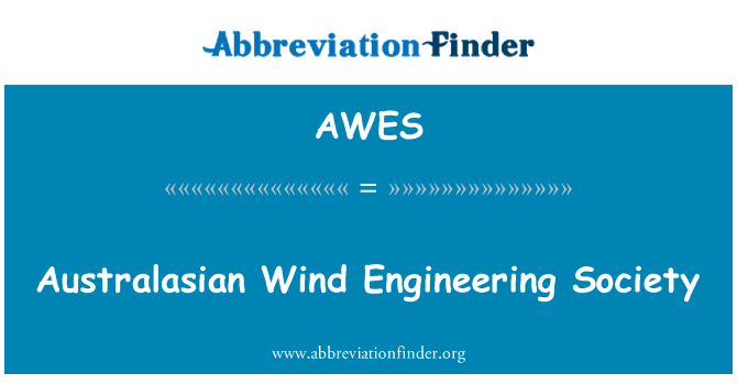 AWES: Australasian Wind Engineering Society