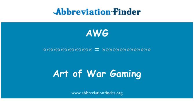 AWG: Art of War Gaming