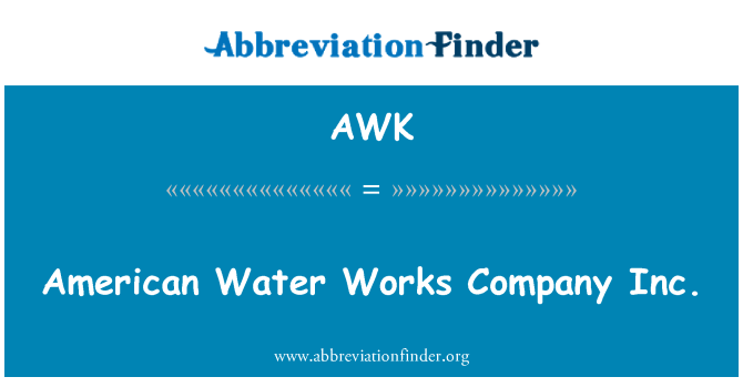 AWK: American Water Works Company Inc.