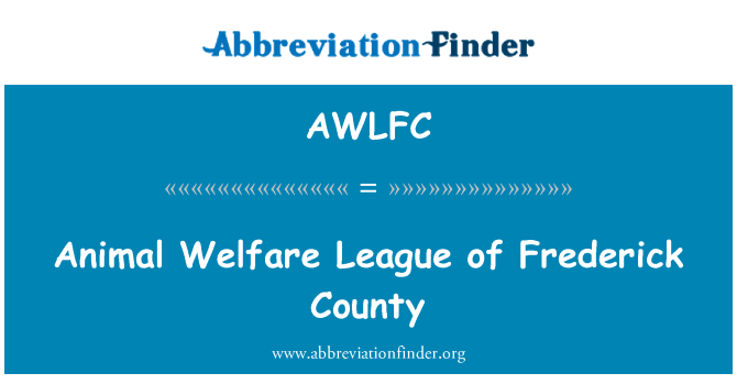 AWLFC: Animal Welfare League of Frederick County