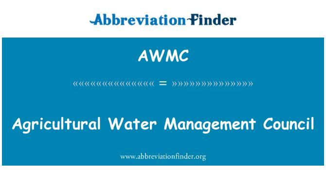 AWMC: Agricultural Water Management Council