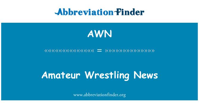 AWN: Amateur Wrestling News