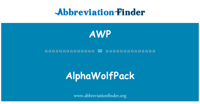 AWP: AlphaWolfPack