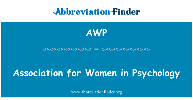 AWP: Association for Women in Psychology