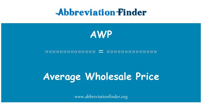 AWP: Average Wholesale Price