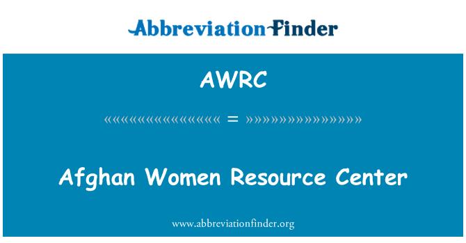 AWRC: Afghan Women Resource Center