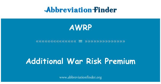 AWRP: Additional War Risk Premium