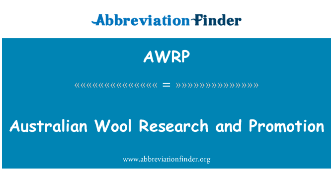 AWRP: Australian Wool Research and Promotion