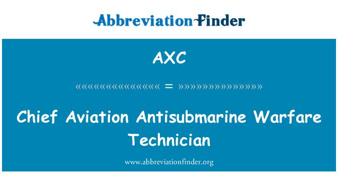 AXC: Chief Aviation Antisubmarine Warfare Technician