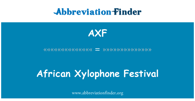 AXF: African Xylophone Festival