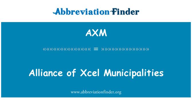 AXM: Alliance of Xcel Municipalities