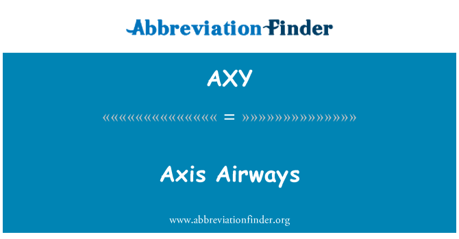 AXY: Axis Airways