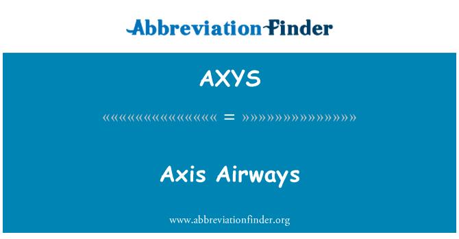 AXYS: Axis Airways