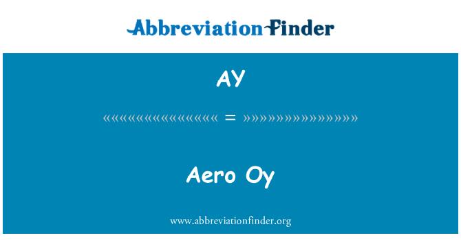 AY: Aero Oy
