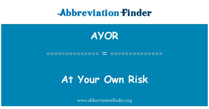 AYOR: Kendi Risk