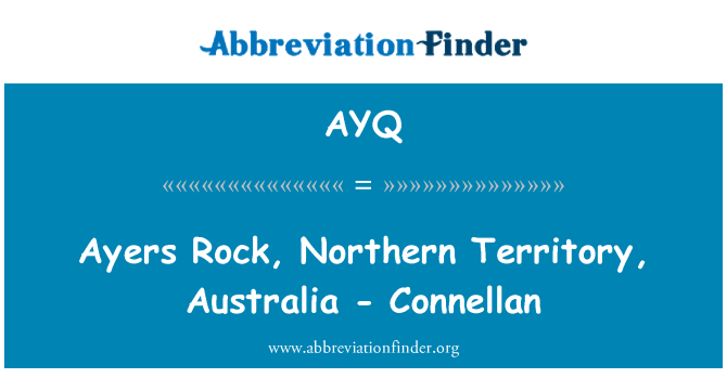 AYQ: Ayers Rock, Northern Territory, Australia - Connellan