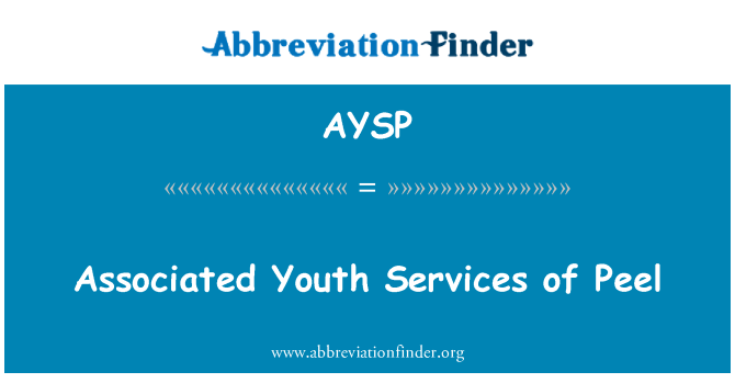 AYSP: Associated Youth Services of Peel