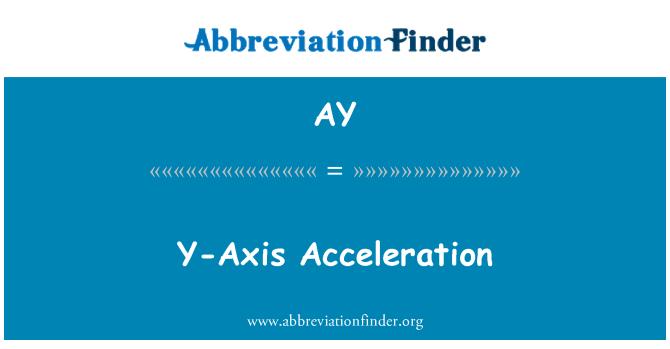 AY: Y-Axis Acceleration