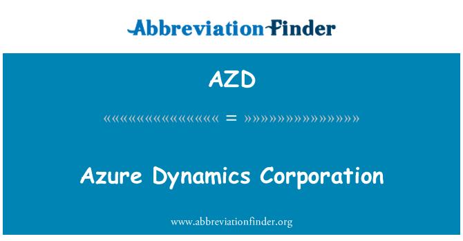 AZD: Azure Dynamics Corporation