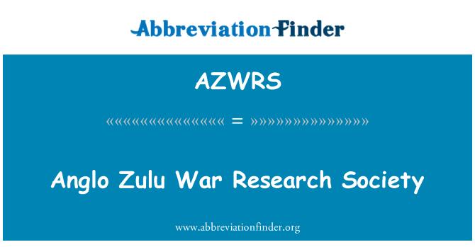 AZWRS: Anglo Zulu War Research Society