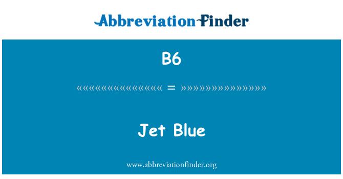 B6: Jet azul