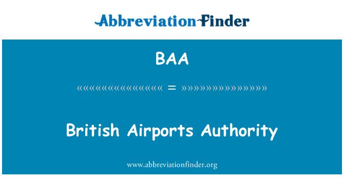 BAA: British Airports Authority
