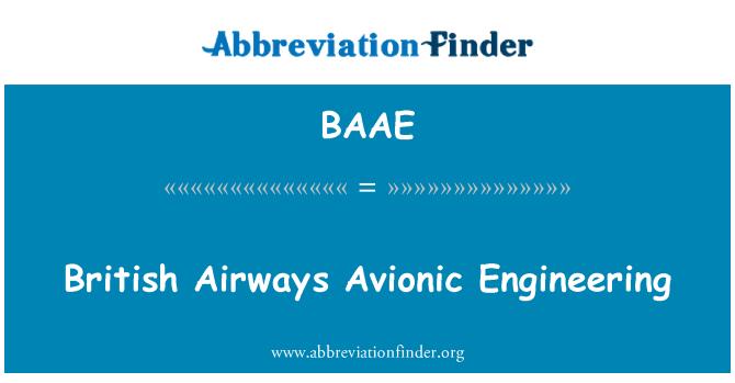 BAAE: British Airways Engineering aviónica