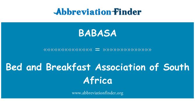 BABASA: Oda ve kahvaltı Derneği Güney Afrika
