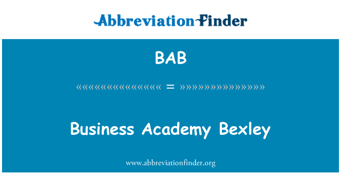 BAB: Business Academy Bexley