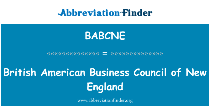 BABCNE: British American Business Council of New England