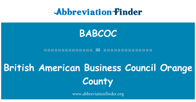 BABCOC: British American Business Council Orange County