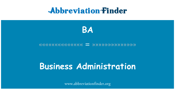 BA: Business Administration