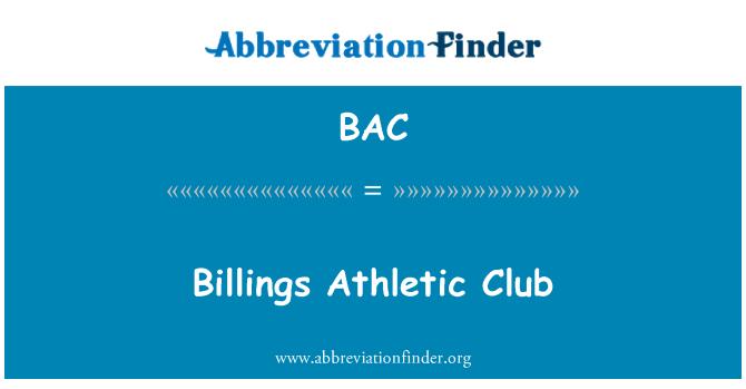 BAC: Billings Athletic Club