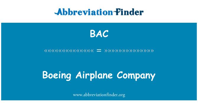 BAC: Boeing Airplane Company