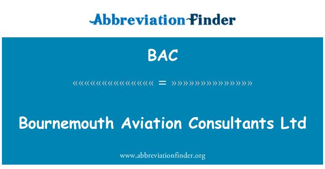 BAC: Bournemouth Aviation Consultants Ltd