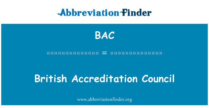 BAC: British Accreditation Council